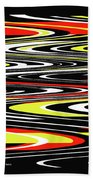 Black Yellow Red White Abstract Beach Towel