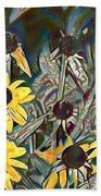 Blackeyed Susans Watercolor Beach Towel