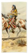 Blackfoot Indian. A Crow Scout Beach Towel