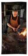 Blacksmith - Blacksmiths Like It Hot Beach Towel by Mike Savad