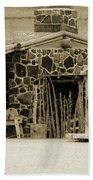 Blacksmith Shop 1867 Cove Creek Fort Utah Photograph In Sepia Beach Sheet