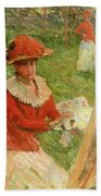Blanche Hoschede Painting Beach Towel