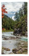 Blazing Red Mountain Maple, Greys River Beach Towel