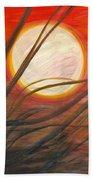 Blazing Sun And Wind-blown Grasses Beach Towel