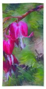 Bleeding Heart Beach Towel