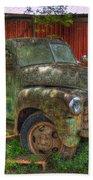 Blind In One Eye 1947 Chevy Flatbed Truck Art Beach Towel