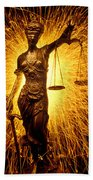 Blind Justice  Beach Towel