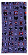 Bllue And Black Abstract #4 Beach Towel