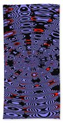 Blue Black Red Abstract Beach Towel