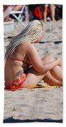 Blondie Braids Beach Towel