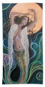 Blood Moon Goddess  Beach Towel