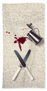 Bloody Dining Table Beach Towel