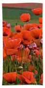 Bloom Red Poppy Field Beach Towel