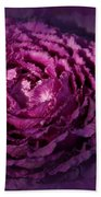 Blooming Cabbage Beach Towel