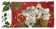 Blooming Christmas II Beach Towel