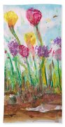 Blooming Colors Beach Towel