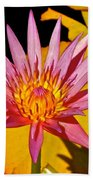 Blooming Lotus Flower Beach Towel