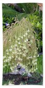 Blooming Succulent Plant. Amazing Beach Towel