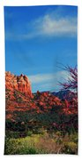 Blooming Tree In Sedona Beach Towel