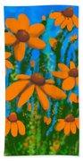 Blooms Of Orange Beach Towel
