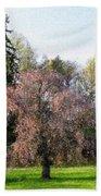 Blossom Tree Impressionist Beach Towel