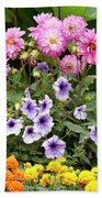Blossoming Flowers Beach Towel