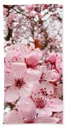 Blossoms Art Spring Pink Tree Blossom Floral Baslee Troutman Beach Towel