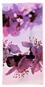 Blossoms At Sunset Beach Towel