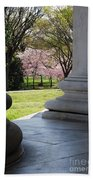Blossoms Of The Columns Beach Towel
