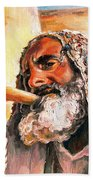 Blow The Trumpet In Zion Beach Towel