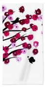 Blowing Blossoms Beach Towel