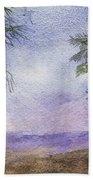 Blowing By The Ocean Beach Towel