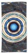 Blue Abalone Sphere Beach Towel