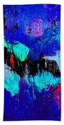 Blue Abstract 55698 Beach Towel