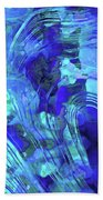 Blue Abstract Art - Reflections - Sharon Cummings Beach Sheet