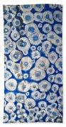 Blue Cells Beach Towel