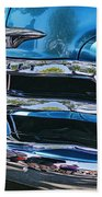 Blue And Chrome Chevy Pickup Front End Beach Towel
