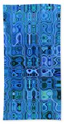 Blue And Green Quilt Beach Towel