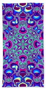 Blue And Pink Wallpaper Fractal 71 Beach Towel