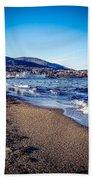 Blue And Tan Beach Towel