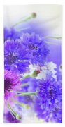 Blue And Violet Cornflowers Beach Towel