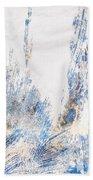 Blue And White Art - Ice Castles - Sharon Cummings Beach Sheet