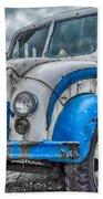 Blue And White Divco Beach Towel