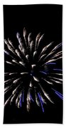Blue And White Fireworks Beach Towel