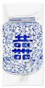 Blue And White Ginger Jar Chinoiserie 8 Beach Sheet