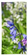 Blue And White Hyacinth Flowers Beach Sheet