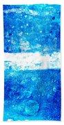 Blue And White Modern Art - Two Pools 2 - Sharon Cummings Beach Towel