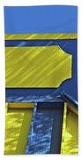 Blue And Yellow Shadows Beach Towel