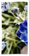 Blue Anemone Beach Towel