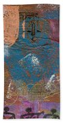 Blue Angel Watches Over Me Beach Towel by Angela L Walker